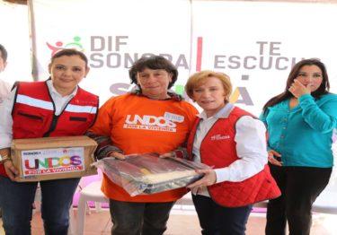 Unen esfuerzos DIF Sonora y familias de Rosario Tesopaco para resolver problemas