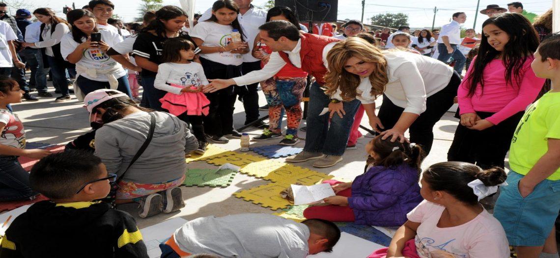 """Inician Maloro Acosta y Claudia Pavlovich """"Construyendo mi Parque"""""""