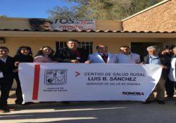 Entrega Secretaría de Salud remodelación y ampliación del Centro de Salud Rural de Luis B. Sánchez