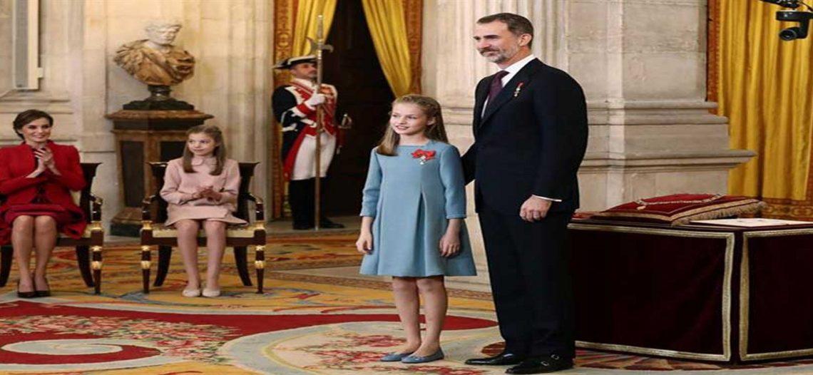 Rey de España otorga máxima condecoración a su hija y heredera