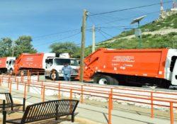 Circulan ya los 5 camiones recolectores que entraron a reparación por garantía
