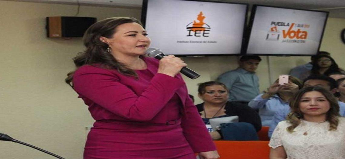 Martha Erika Alonso se registra como candidata a gobernadora en Puebla