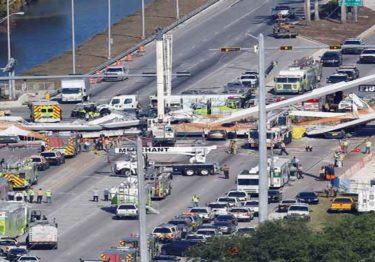 Al menos 4 muertos y 9 heridos tras colapso de puente en Miami