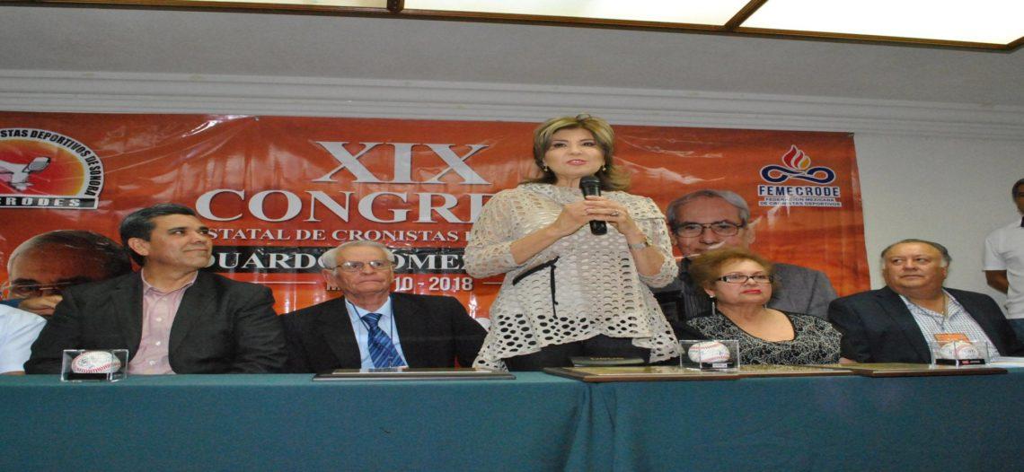 Inaugura Presidenta Municipal XIX Congreso Estatal de Cronistas Deportivos