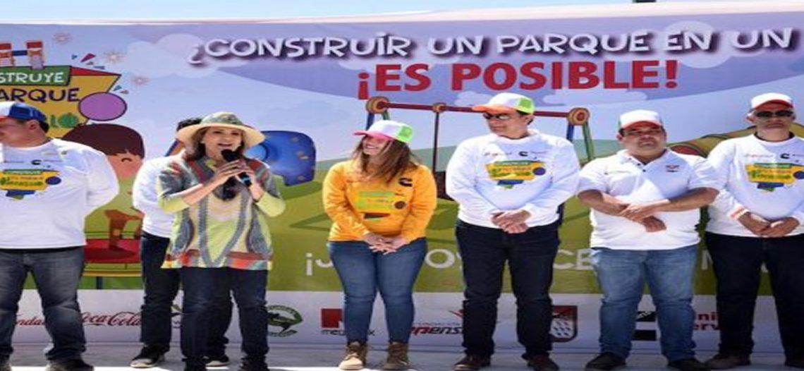 Contruyen vecinos nuevo parque en Las Minitas