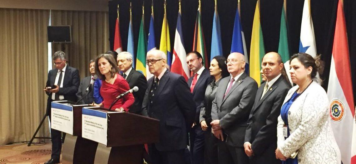 Grupo de Lima pide suspender elecciones en Venezuela