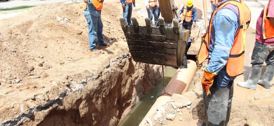 Terminan trabajos de reparación en tubería al Sur de la ciudad