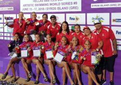 Mexicanas arrasan medallero en Natación Artística