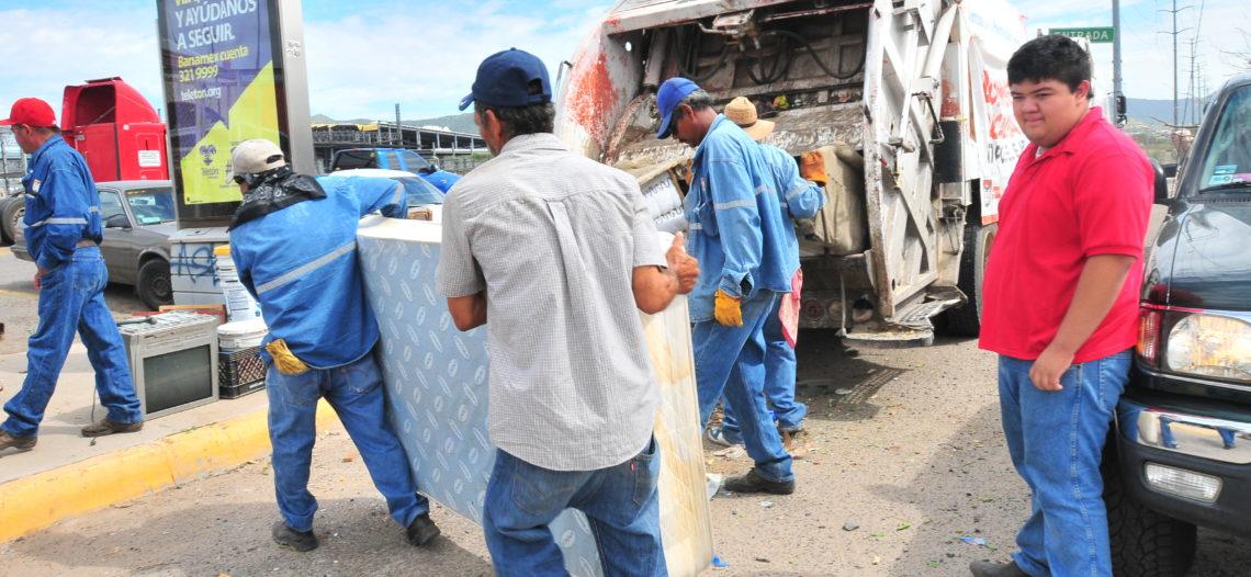 Reúne 57 toneladas de desechos la Jornada de Limpieza y Descacharre