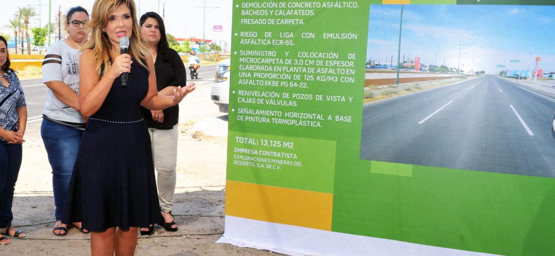 Entrega Gobernadora Pavlovich vialidades rehabilitadas en Hermosillo