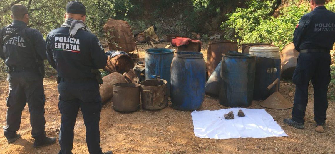 Desmantelan PESP y SEDENA narcolaboratorio en mina abandonada