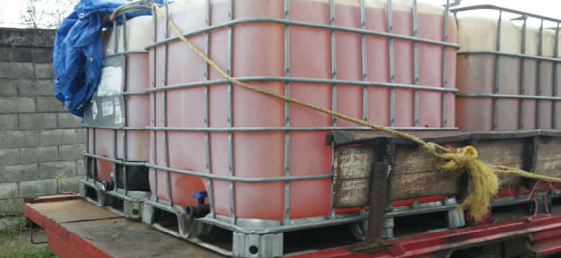 Aseguran seis mil litros de huachicol en Tamaulipas