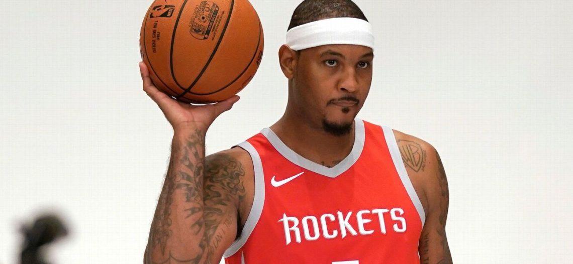 Carmelo Anthony buscará despegar con los Rockets