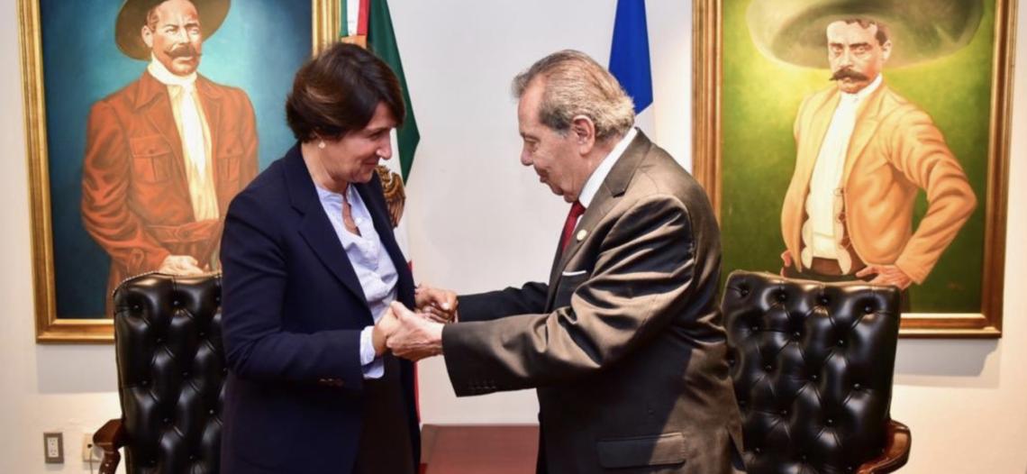 Se reúne Muñoz Ledo con la embajadora de Francia