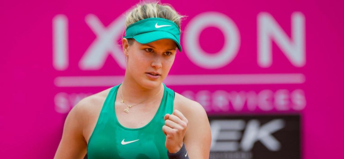 Eugenie Bouchard sale a ganarse el pan