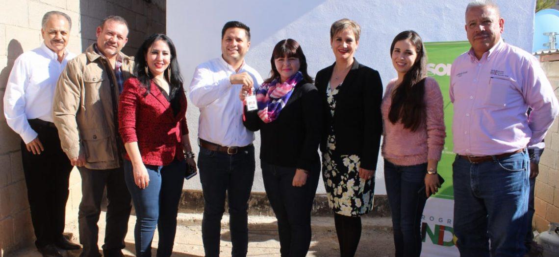 Dota Sedesson de infraestructura básica a familias de Nacozari y Fronteras
