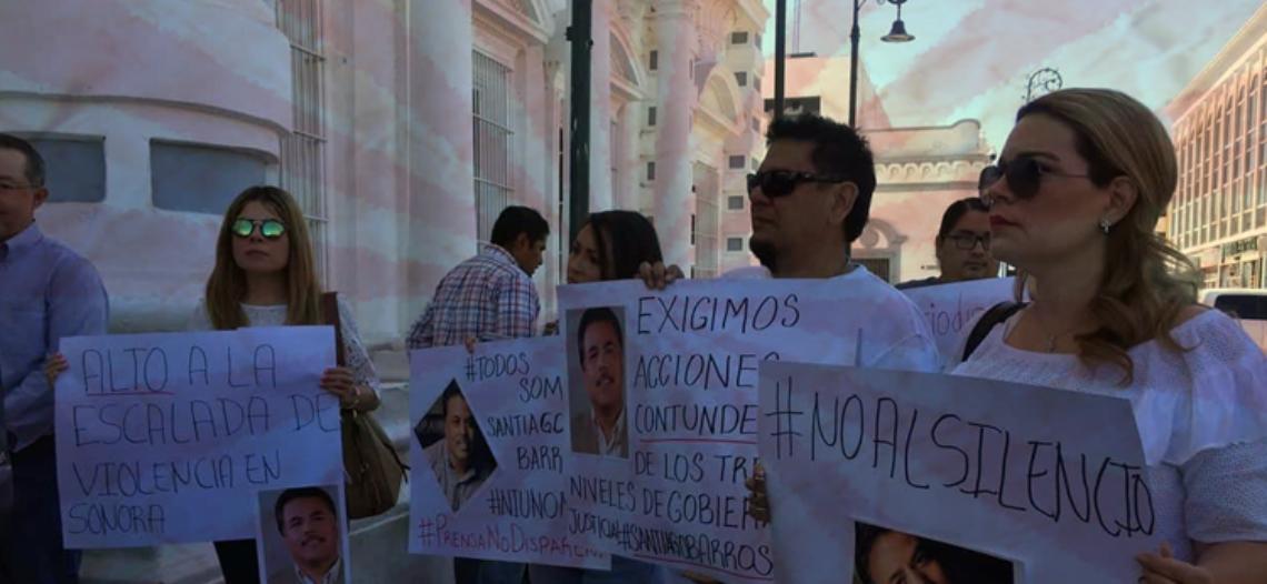 """""""Ni uno más"""" el grito del periodismo sonorense"""