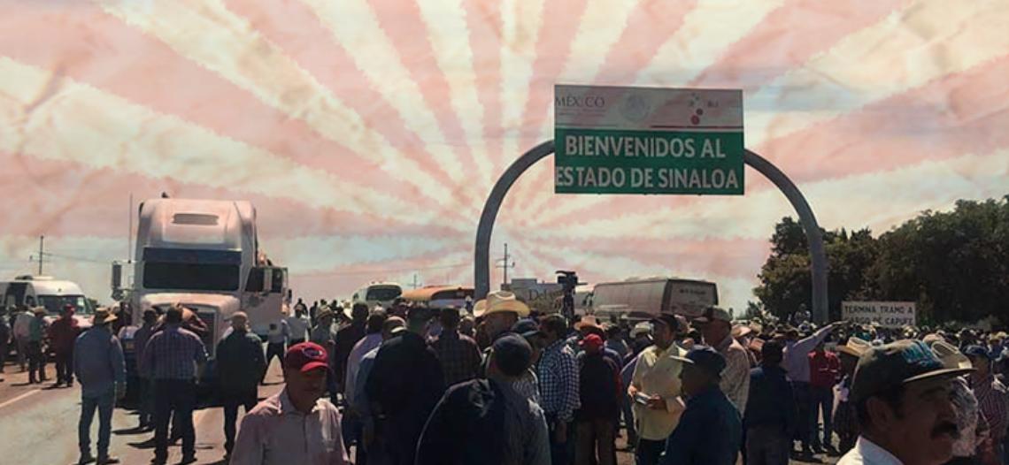 Agricultores y transportistas bloquean carreteras