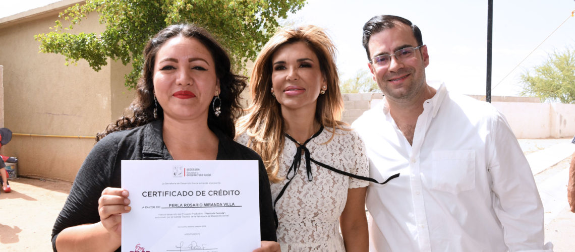 "Entrega Gobernadora primeros apoyos del programa ""Soy Pilar"""