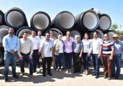 Arranca Alcaldesa construcción de colector de drenaje en Miguel Alemán