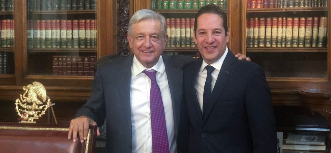 Gobernador de Querétaro se reúne con López Obrador