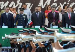 Preside Secretario de Seguridad Desfile Cívico Militar