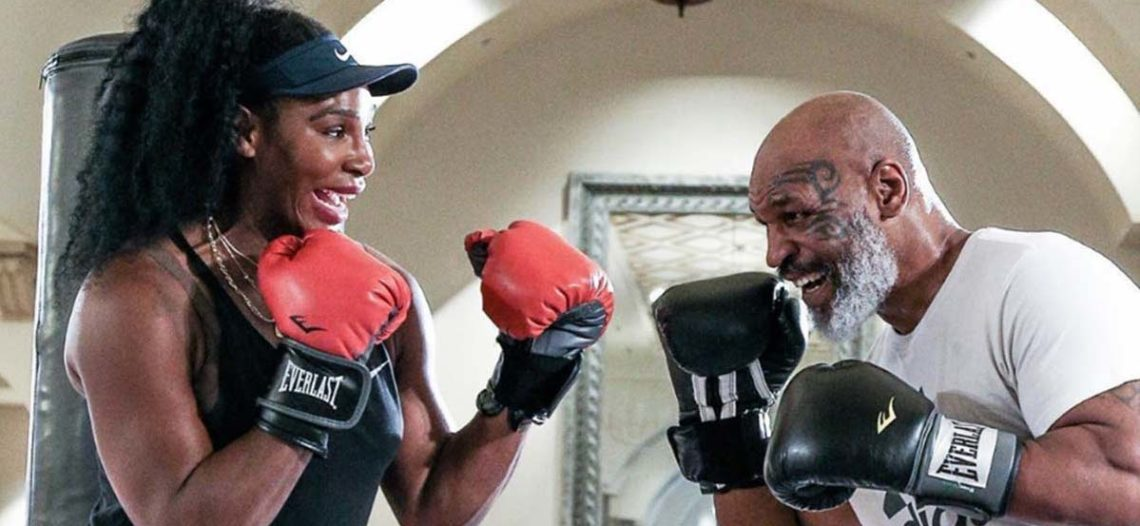 Serena Williams en modo 'Rocky'; Mike Tyson, su maestro