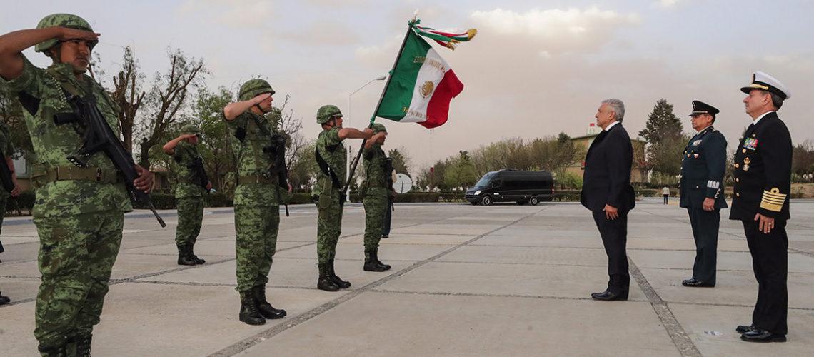 Confía López Obrador que Fuerzas Armadas garanticen la seguridad